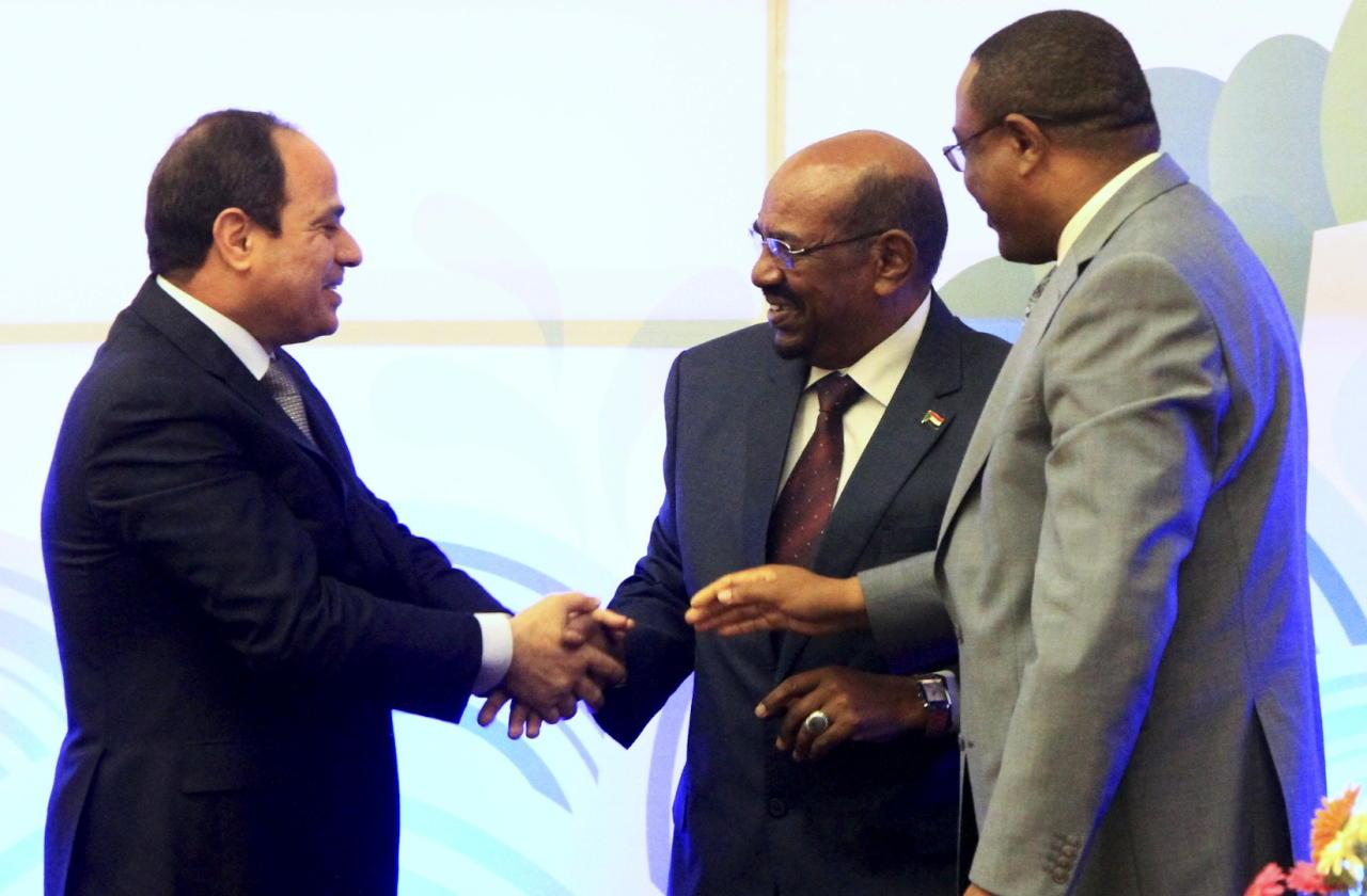 زعماء مصر وإثيوبيا والسودان
