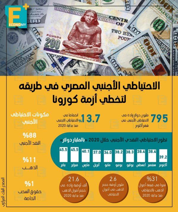 الاحتياطي الأجنبي المصري في طريقة لتخطي أزمة فيروس كورونا